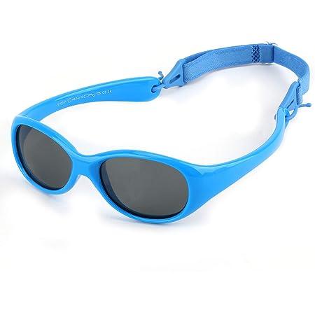 Hifot Gafas de Sol para bebés niño Niña, protección UV polarizadas niños Gafas de Sol templos No Plegable - De 6 Meses a 2 años