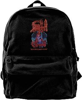 NJIASGFUI Rucksack aus Segeltuch, Motiv Death Creme, für Fitnessstudio, Wandern, Laptop, Schultertasche für Männer und Frauen