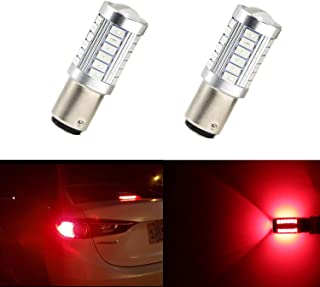 Set of 2 Super Bright 5630 33SMD 1157 2057 2357 7528 BAY15D 1016 1034 1157A 1178A 1196 2057A 2357A 2357NA 2397 3496 94 Red Brake Light LED Bulbs