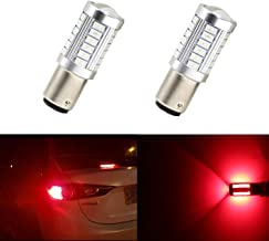 Dantoo Extremely Bright 1157 7528 LED BAY15 Bulb Brake Light Bulbs 33 SMD Brilliant Red Tail Lights Stop Lamp with Projector Lens Replacement 2pcs
