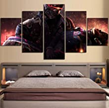 yisanwu 5 Piece Digital Art Paintings Soldier 76 Video Game Poster Artwork Illustration Canvas Wall Art Paintings 40x60cmx2 40x80cmx2 40x100cmx1 Frame