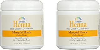 Rainbow Research Henna Marigold Blonde Hair Color and Conditioner (Pack of 2) With Marigold Flowers and Chamomile, 4 oz. e...