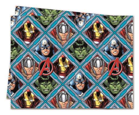 ILS I LOVE SHOPPING Tovaglia di plastica 120 x 180cm per Festa Compleanno (Mighty Avengers Supereroi, Tovaglia)