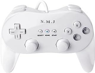 【N.M.JAPAN】 Wii クラシックコントローラ PRO (Wii WiiU バーチャルコンソール対応)クロス 取扱説明書 1年保障付き ホワイト