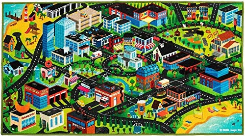 3D Kids Carpet Playmat Rug Kids Carpet Playmat Rug 3D City Life Car Mats Pretend Play Set for product image