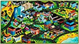 3D Kids Carpet Playmat Rug Kids Carpet Playmat Rug 3D City Life Car Mats Pretend Play Set for Kids Age 3+, Jumbo Play Room Rug, Hot Wheels Track Racing and Toys - Floor Mats for Cars for Toddler Boys