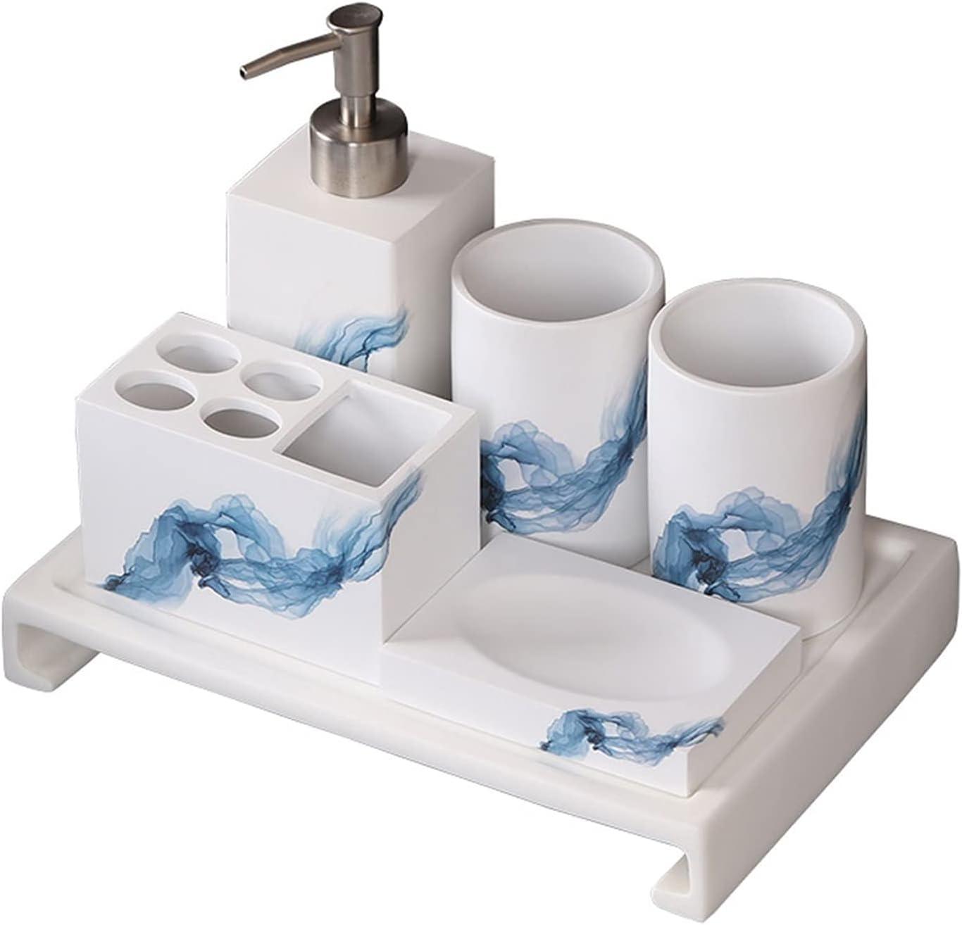 Soap Max 48% OFF Dispenser Bottle Lotion White All items in the store Bathro 6Pcs Ceramic