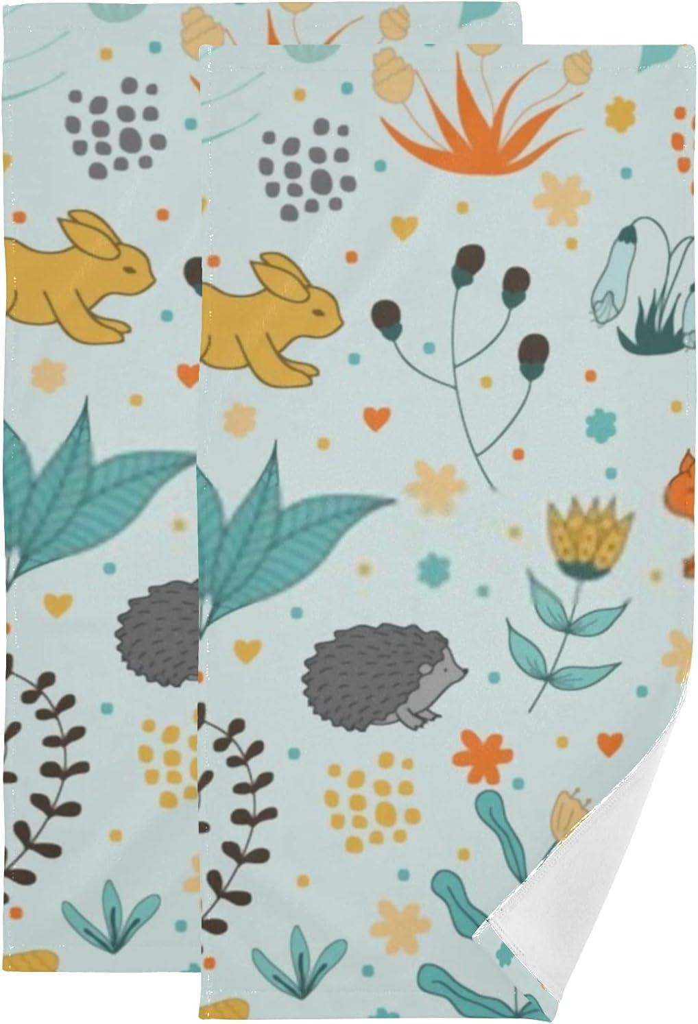 Romantic Rabbits Hedgehogs Squirrels Hand Super Soft 2pack Oakland Max 56% OFF Mall Towel