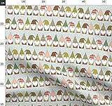 Weihnachten, Zwerge, Streifen, Hüte, Bärte Stoffe -