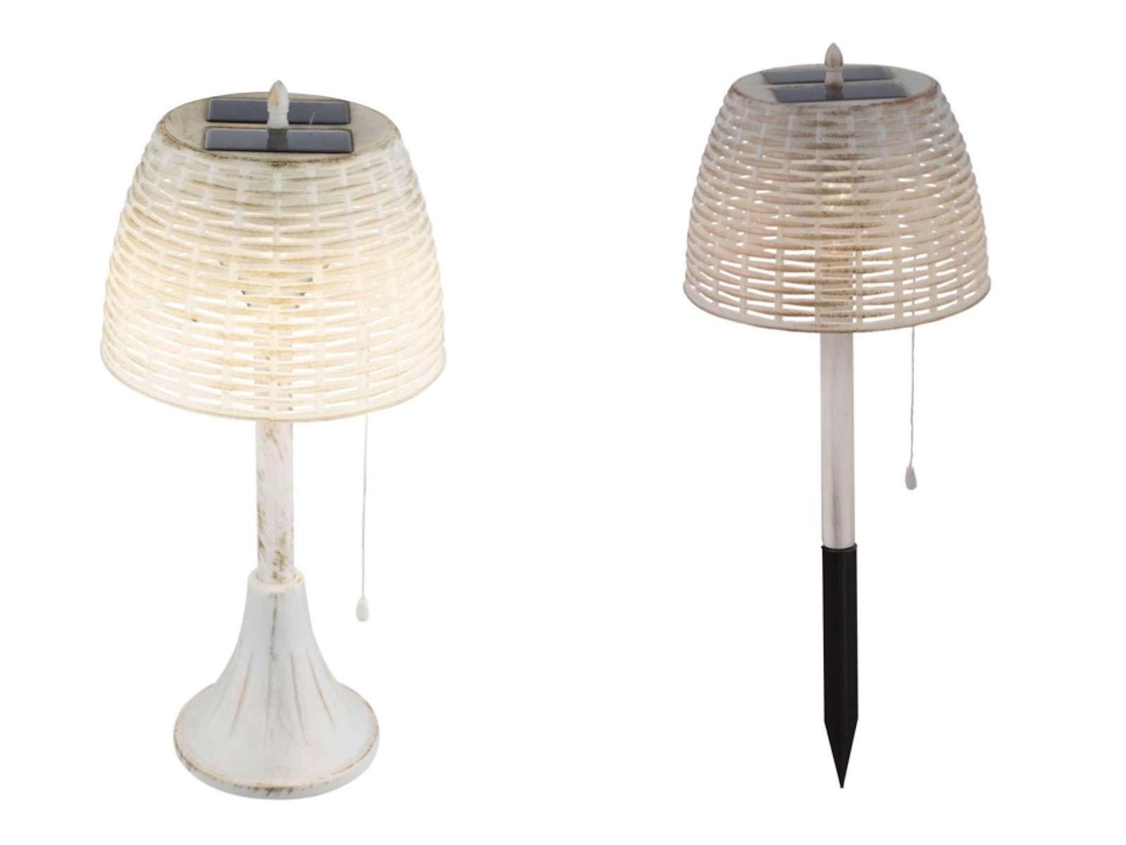 Lámpara solar para jardín, decoración de jardín, lámpara de mesa solar para jardín (estaca, lámpara decorativa, LED, altura 60 cm, lámpara de mesa): Amazon.es: Iluminación