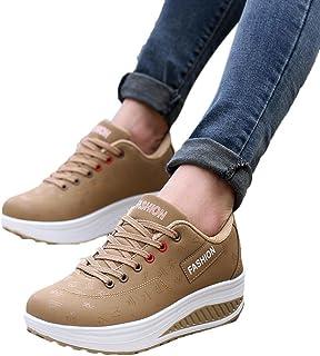 b68d1826d06 Elecenty scarpa sneakers estive eleganti donna scarpe Scarpa a zeppa  altalena crescente per donna