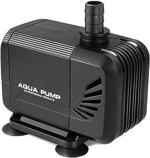 超静音水中ポンプ、4つの強力な吸引カップシーウォーターポンプ、最大揚程1.5m、電源コード、水槽、池、水族館、彫像、水耕栽培のための1500 L/H 15W 60Hz 噴水ポンプ (Black HY-304)