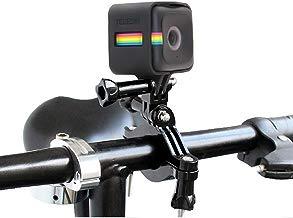 TELESIN Roll Bar Mount 3,5cm–6,35cm Grande diámetro Motocicleta Bar Tija Mount Compatible con Marco Vivienda para Polaroid Cube/Cubo +