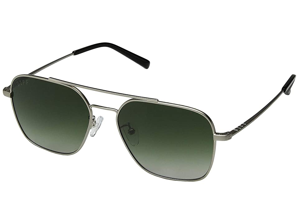 DIFF Eyewear Ace (Brushed Silver/G15 Gradient) Fashion Sunglasses
