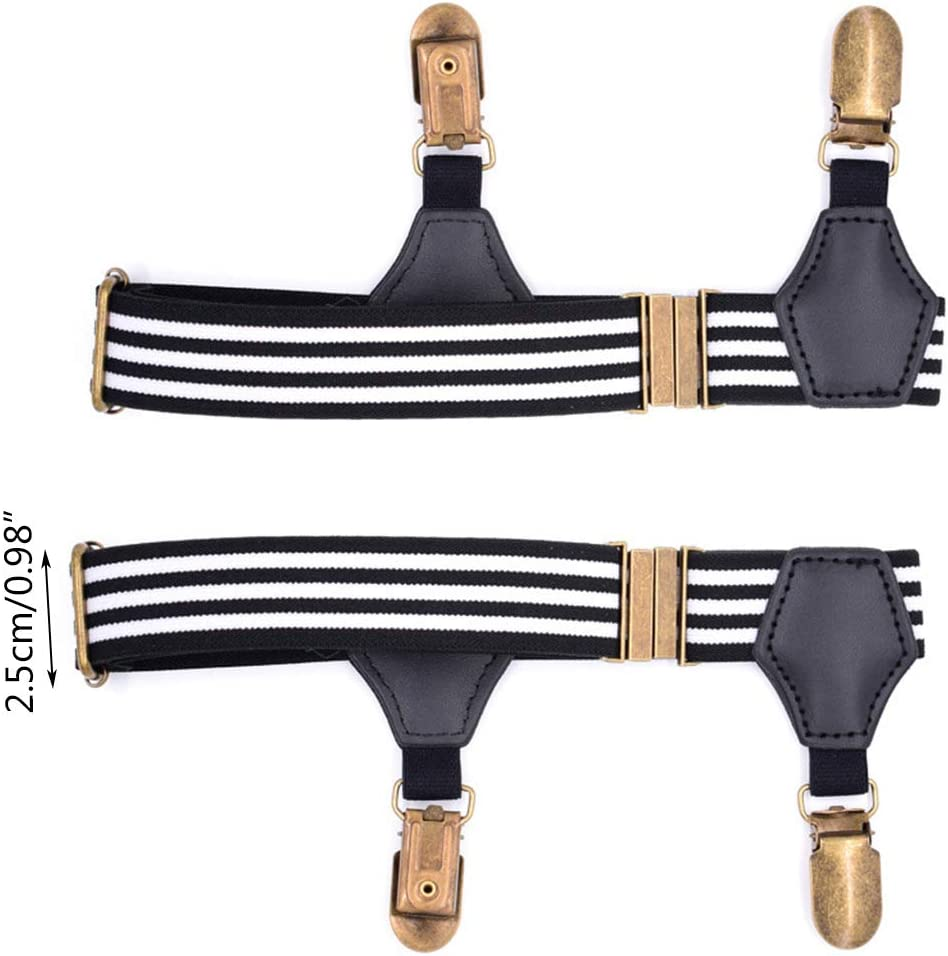 XISAOK 1.01Pair Elastic Mens Sock Remains Leg Suspenders Garter Clip Buckle Non-Slip Clamp