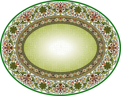 Design with Green Center of Celtic Knots -Etched Vinyl Stained Glass Film, Static Cling Window Decal