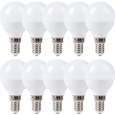 E14 Fassung LED SES Gl/ühbirnen Warmweiss 3000K Kein Flimmern 6er Pack E14 LED Kleine Edison Schraube Golfball Gl/ühbirnen 5W Entspricht 40 Watt Gl/ühlampen Kein Dimmbar AC 85-265V 420LM