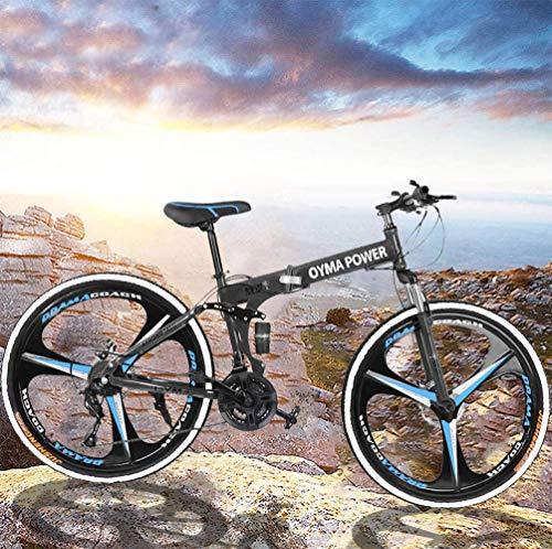 VANP 26 Inch Folding Mountain Bike with 21 Speed Dual Disc Brakes Full Suspension Non-Slip,Mountain...