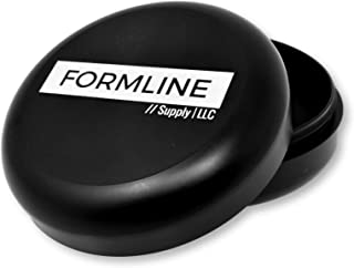 Formline Pocket Sized Smell Proof Stash Container for Travel - Mini Aluminum Storage Jar Locks in Smelly Odor - Airtight & Waterproof (Black, Pocket Sized)