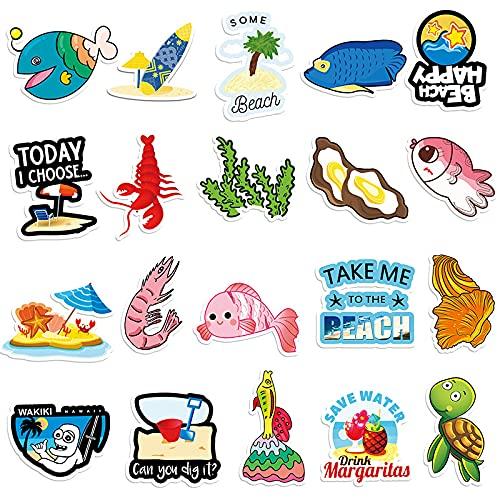YZFCL Ocean Series Cute Bio Cartoon Sticker Luggage Scooter Car Phone Decoration Sticker 100pcs