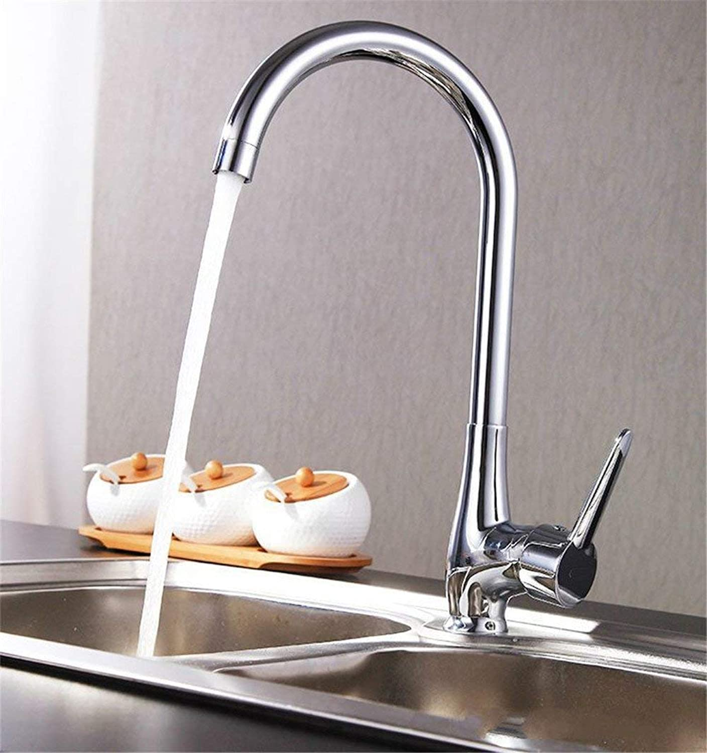 Ware copper chrome kitchen faucet environmental single handle hot and cold faucet sink faucet (color   -, Size   -)