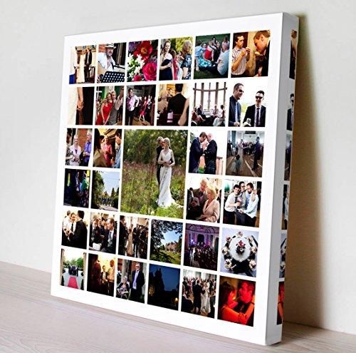 Cuadro Collage con TU S Fotos!!, impresión en Lienzo sobre Bastidor de Madera de 35mm (60x40)