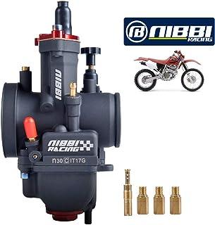 Nibbi Racing Performance Carburador 30 mm Motocicleta Carburador 200 250 Power Jet PWK Carb 30 mm
