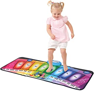 YUHT Music Piano Keyboard Dance Floor Mat, Electronic Music Playmat Colorful Dance Mat, Touch Playmat Early Education Toys for Baby Girls Boys Dance Mat