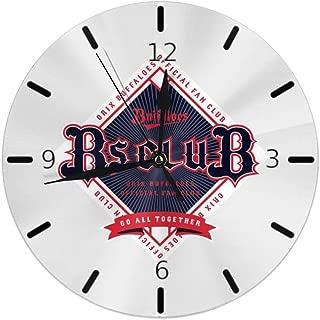 オリックス・バファローズ 掛け時計 円型 壁掛け 置き時計 お洒落 オシャレ 数字 Round Wall Clock 静音 電池式 部屋装飾