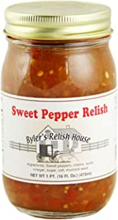 Byler's Relish House Homemade Amish Country Sweet Pepper Relish 16 oz.