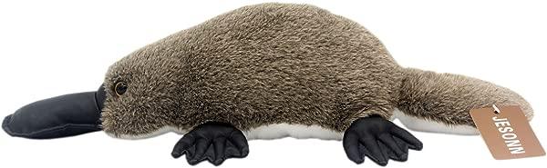 JESONN 逼真柔软毛绒枕头毛绒玩具玩具鸭嘴兽儿童礼物 18 或 46 厘米 1 件