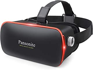 Pansonite 3D VR Glasses Virtual Reality Headset for Games & 3D Movies, Upgraded & Lightweight with Adjustable Pupil and Ob...