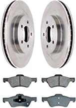 Prime Choice Auto Parts RSMK64125-64125-1047-2-4 Front Disc Rotors and Semi-Metallic Brake Pads