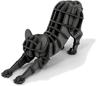 JIGZLE Stretching Cat 3D Paper Puzzle DIY Kit - Laser Cut Miniature (1