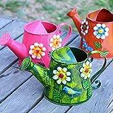 Moda Tianzhi agua de las flores de riego del color de la casa retro estaño puede regar el jardín riego aerosol de la ducha de la flor (Color : Volcanic red 3 liters)