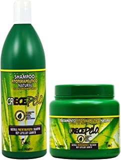 BOE Crece Pelo Fitoterapeutico Natural Shampoo 32.63oz & Treatment 36oz
