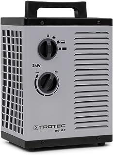 TROTEC Calefactor cerámico TDS 10 P de 2.000 Watt (2 kW) con un termostato Integrado y Dos etapas de Calentamiento