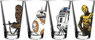 Star Wars Classic Pint Glass Set (Chewbacca, BB-8, R2-D2, C3-P0)