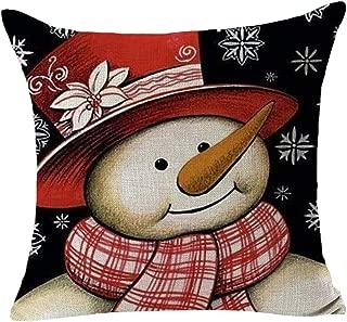 DAGE Christmas Pillow Case Flax Soft Pillowcase Sofa Waist Throw Pad Cushion Cover Home Decoration Home Car Decor