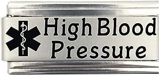 High Blood Pressure Medical Alert Italian Charm Bracelet Jewelry Link
