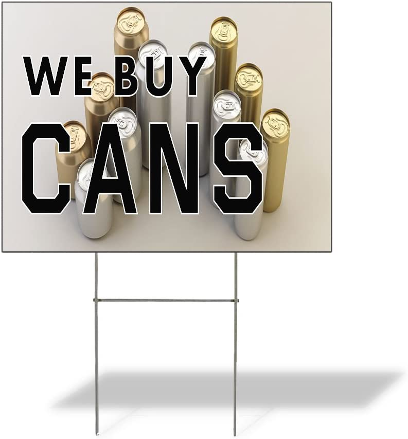 Fastasticdeals Weatherproof Yard Sign We Outdoor Max 73% OFF Cans Boston Mall Buy Advert