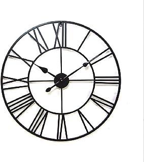 CYYCY Creativo Reloj de Pared nórdico Reloj de Pared Grande silencioso para la Cocina/Dormitorio/Sala de Estar/Vintage Reloj de Hierro Forjado diámetro Romano 80 CM