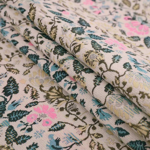 IQQI Floral Brocade Fabric Brocade Fabric, Poliéster Jacquard Desfile De Moda Vestido De Tela De La Manera (3 Colores),A