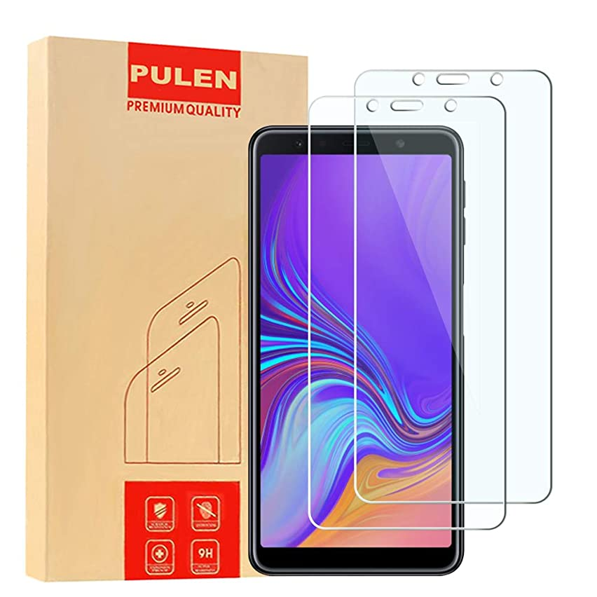 [2-Pack] Samsung Galaxy A7 2018 Screen Protector, PULEN 0.3MM Slim and 9H Hardness Tempered Glass [Anti-Scratch] [Bubble Free] [Ultra Clear] Extreme Hardness with Lifetime Replacement Warranty