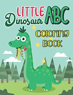 Little dinosaurs abc coloring book
