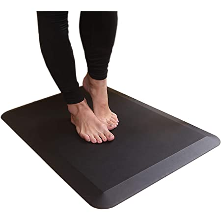 Amazon Com Amazon Basics Premium Anti Fatigue Standing Comfort Mat For Home And Office 20 X 36 Inch Black Kitchen Dining