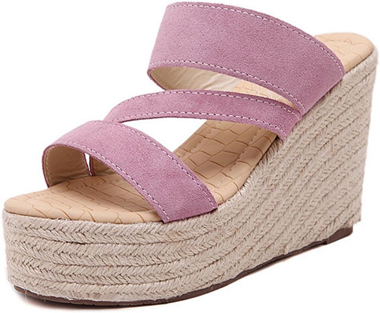 CYBLING Womens Espadrille Wedge Sandal High Heel Strap Sandals Platform Summer Slippers
