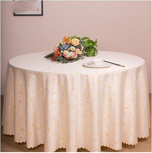 Nappe ronde, nappe pure de couleur de nappe pour nappe de cuisine nappe décorative anti-poussière nappe décorative (Couleur   Beige, taille   280cm)