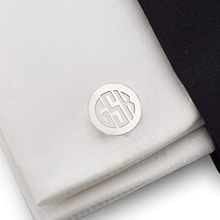 Monogrammed cufflinks Mens monogram cufflinks Sterling silver cufflinks Gift for Groom Wedding Husband Birthday | Gift Messaged, Box | Handmade
