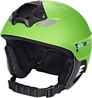 Tontron Winter Sports Helmet with Go Pro Mount Plate and Headphone Pocket